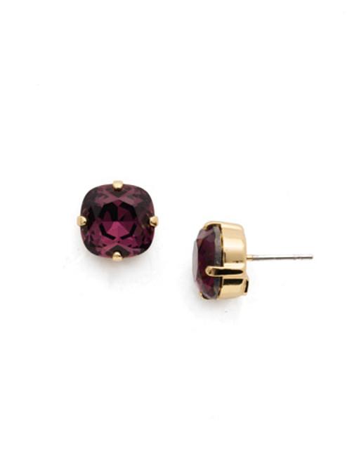 Sorrelli AMETHYST- Halcyon Stud Earrings~ EDH25BGAM