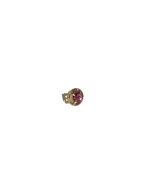 Sorrelli Pink Orchid- Bold Bauble Ring~ RCM5AGPOR
