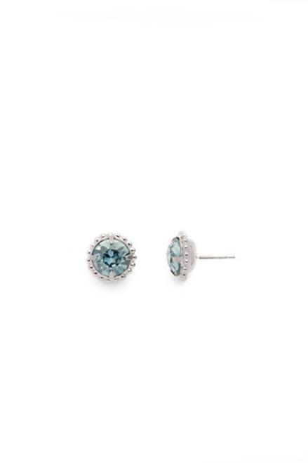 Sorrelli Essentials LIGHT AQUA- Simplicity Crystal Stud Earrings~ EBY38RHLAQ