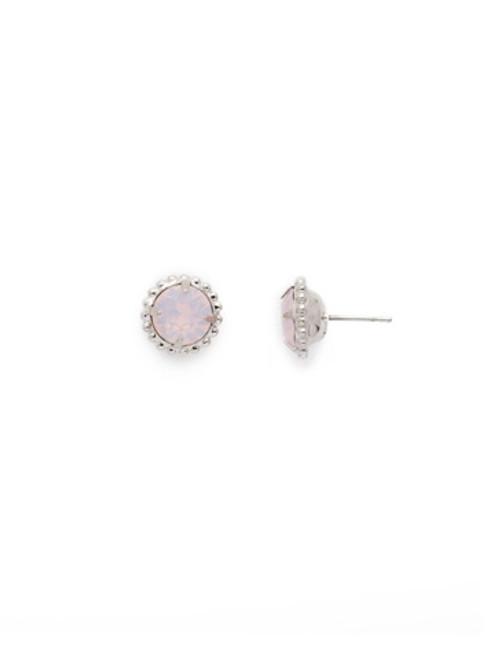 Sorrelli Essentials ROSE WATER- Simplicity Crystal Stud Earrings~ EBY38RHROW