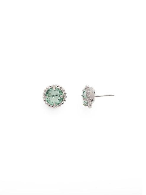 Sorrelli Essentials MINT- Simplicity Crystal Stud Earrings~ EBY38RHMIN