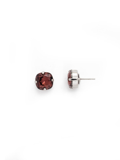 Sorrelli BURGUNDY- Halcyon Stud Earrings~ EDH25RHBUR