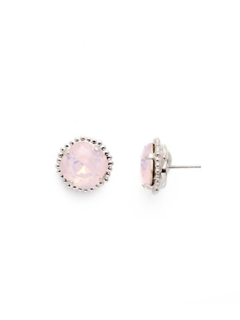 Sorrelli ROSE WATER- Cushion Cut Solitaire Stud Earrings~ EBX10RHROW