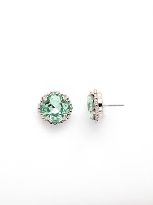 Sorrelli MINT- Cushion Cut Solitaire Stud Earrings~ EBX10RHMIN
