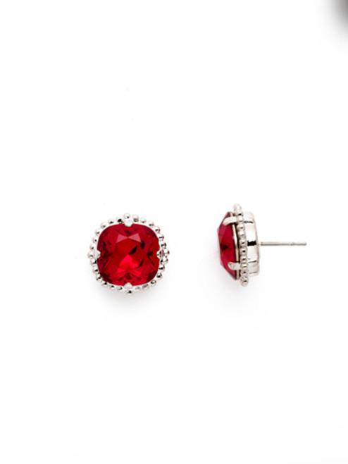 Sorrelli SIAM- Cushion Cut Solitaire Stud Earrings~ EBX10RHSI