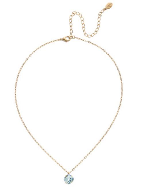 Sorrelli Essentials LIGHT AQUA- Siren Pendant Necklace~ NEP22AGLAQ