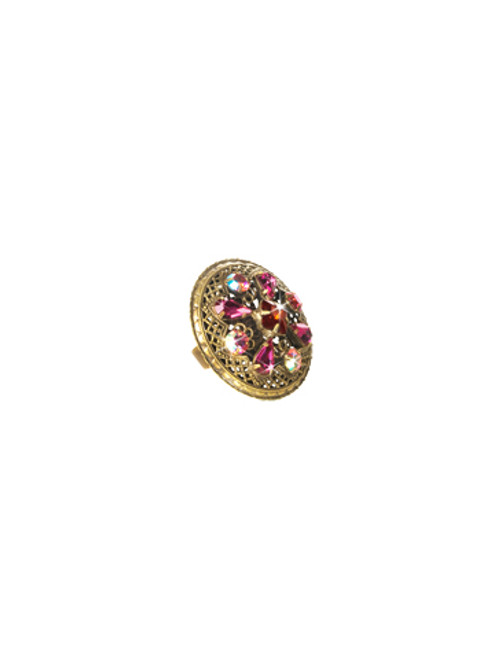 Sorrelli Pink Orchid- Filigree and Fancy Free Ring~ RCP31AGPOR