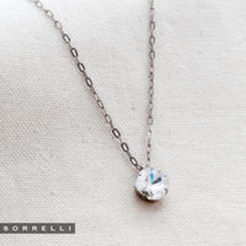 Sorrelli Essentials CRYSTAL- Siren Pendant Necklace~ NEP22ASCRY