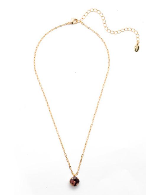 Sorrelli Essentials Burgundy- Siren Pendant Necklace~ NEP22BGBUR