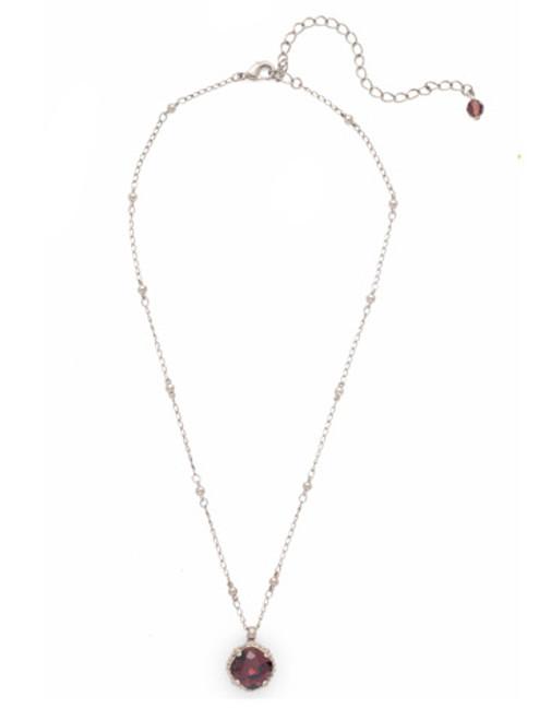 Sorrelli Essentials Burgundy- Siren Pendant Necklace~ NEP22AGBUR
