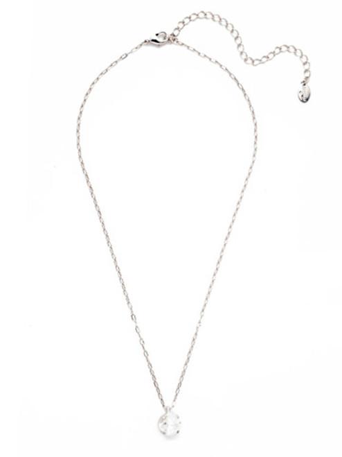 Sorrelli Essentials CRYSTAL- Siren Pendant Necklace~ NEP22RHCRY