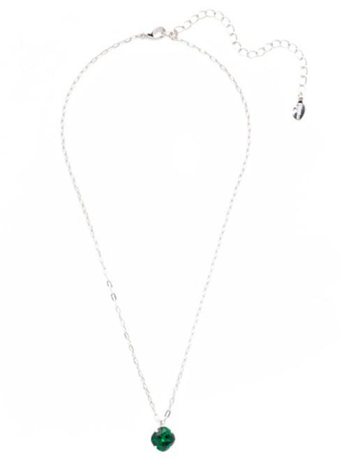 Sorrelli Essentials EMERALD- Siren Pendant Necklace~ NEP22RHEME
