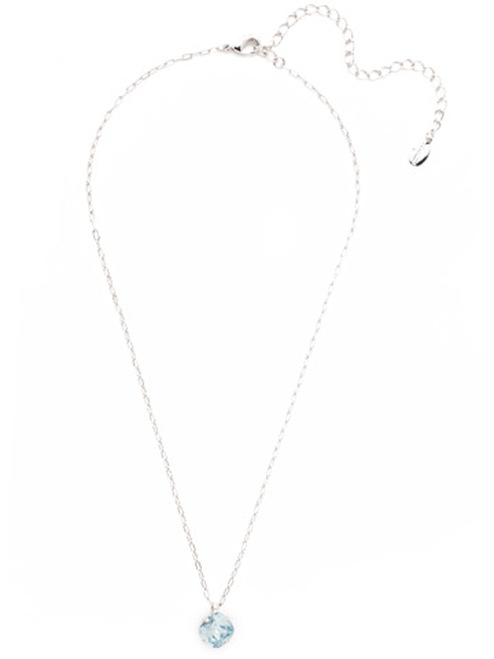Sorrelli Essentials LIGHT AQUA- Siren Pendant Necklace~ NEP22RHLAQ