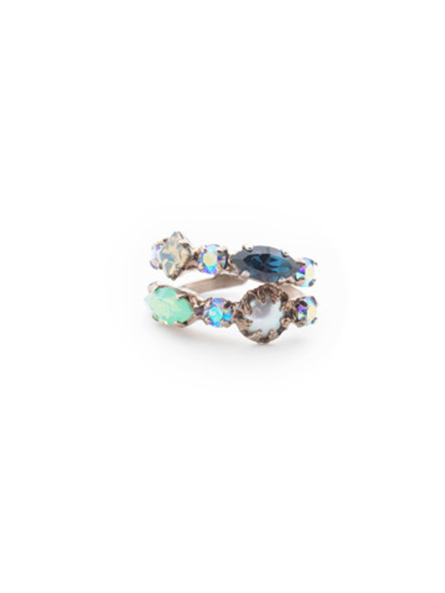 Sorrelli- NIGHT FROST- Oaklyn Stacked Ring~ REP1ASNFT