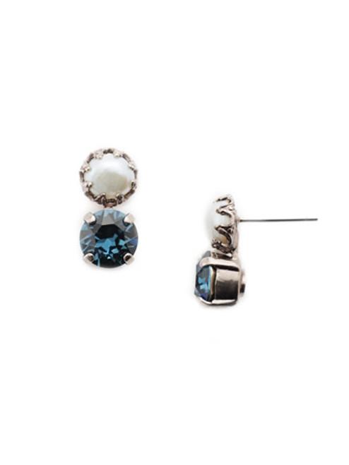 Sorrelli- NIGHT FROST- Dallas Stud Earrings~ EEU14ASNFT