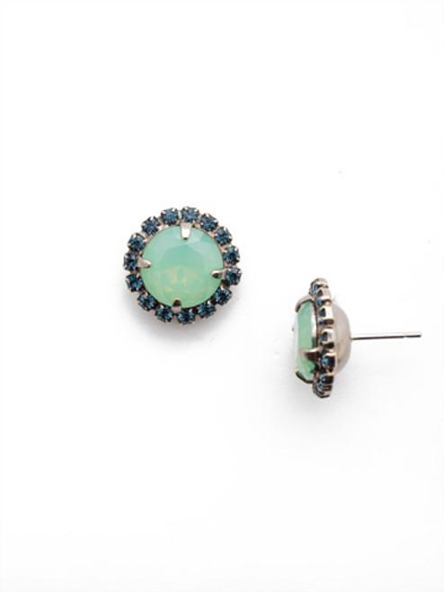 Sorrelli- NIGHT FROST- Haute Halo Stud Earrings~ ECX98ASNFT
