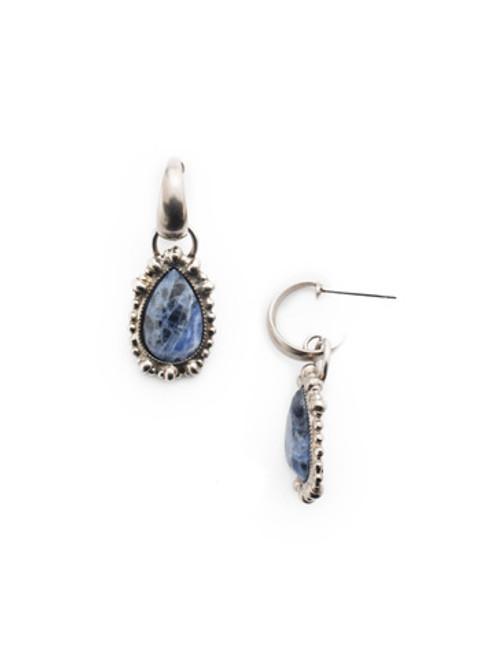 Sorrelli- NIGHT FROST- Henrietta Hoop Earrings~ EEU15ASNFT