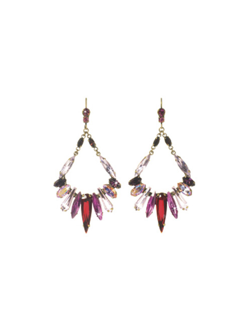 Sorrelli Pink Orchid- Frosted Icicles Earrings~ ECN26AGPOR