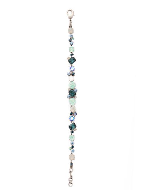Sorrelli NIGHT FROST- Geo Classic Tennis Bracelet~ BBDG46ASNFT