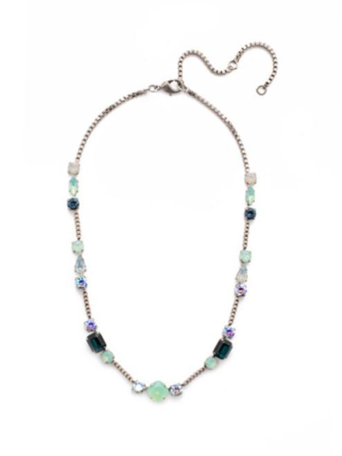 Sorrelli NIGHT FROST- Poppy Tennis Necklace~ NEN18ASNFT
