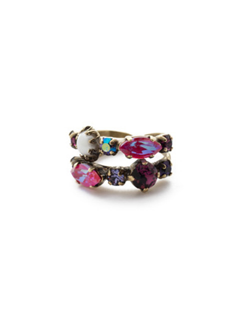 Sorrelli DUCHESS - Oaklyn Stacked Ring ~ REP1AGDCS