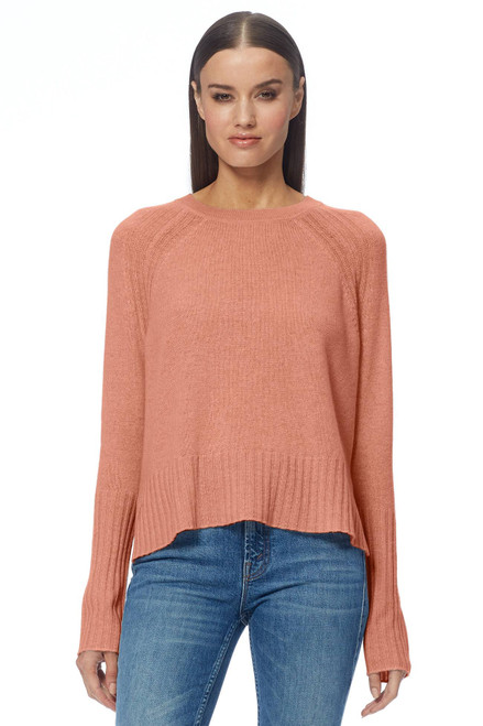 Freda Cashmere Sweater by 360CASHMERE-45200-Desert Rose-Front View