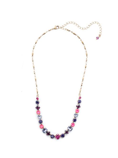 Sorrelli DUCHESS - Papaver Tennis Necklace~ NDX14AGDCS