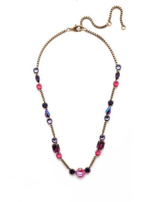 Sorrelli DUCHESS - Poppy Tennis Necklace~ NEN18AGDCS