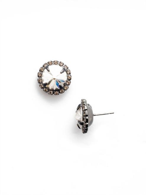 Sorrelli GOLDEN SHADOW - Haute Halo Stud Earrings ~ ECX98GMGNS