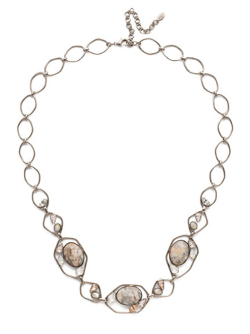 **Made To Order**  Sorrelli SILKY CLOUDS -Presley Long Strand Crystal Necklace~ NEE24ASSCL