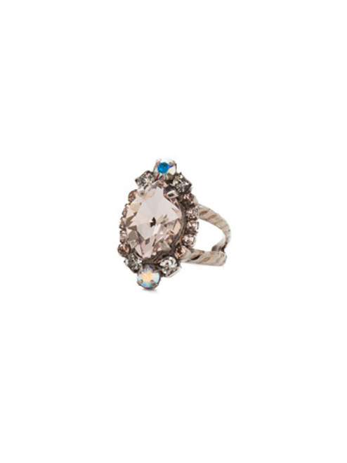 Sorrelli SILKY CLOUDS - Eustoma Crystal Cocktail Ring ~ RDS44ASSCL