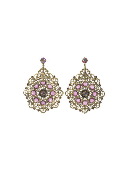 Sorrelli Pink Orchid- Intertwined Intensity Earrings~ ECP24AGPOR