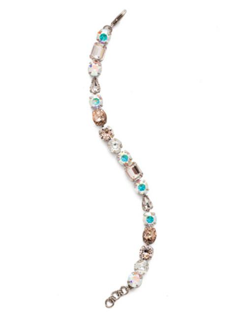 Sorrelli SILKY CLOUDS - Clover Tennis Bracelet~ BDQ13ASSCL