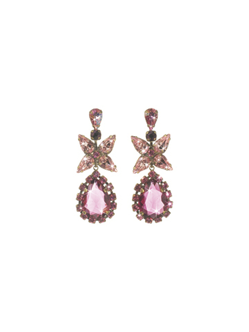 Sorrelli Pink Orchid- Bauble Blossoms Earrings~ ECP21AGPOR