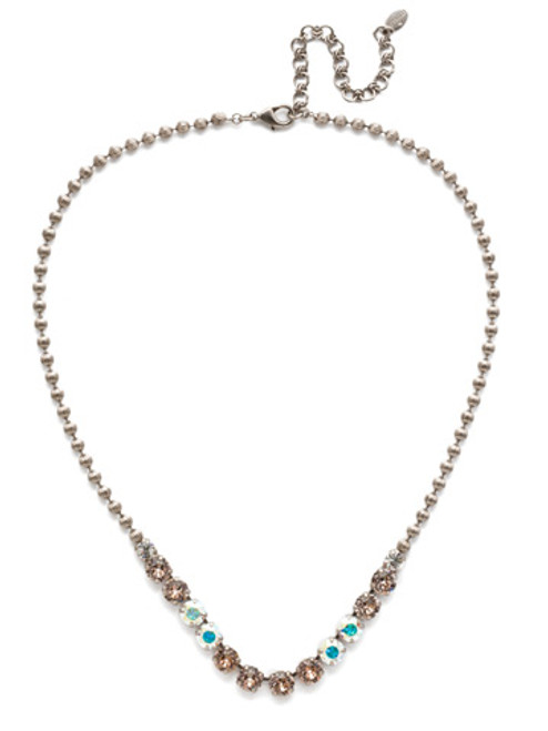 Sorrelli SILKY CLOUDS - Nora Line Necklace~ NEE31ASSCL