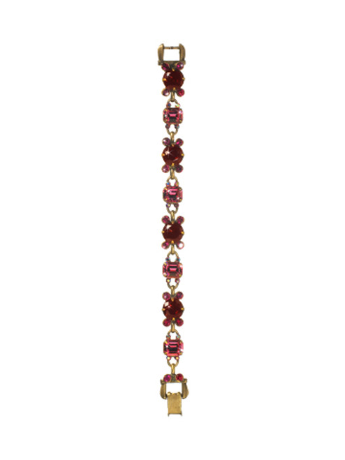 Sorrelli Pink Orchid- Punctuated Glamour Bracelet~ BCL15AGPOR