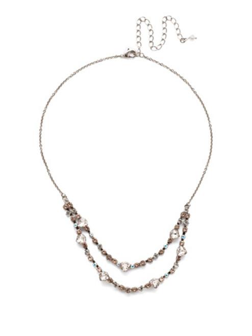 Sorrelli SILKY CLOUDS - Sedge Mini Bib Necklace~ NEE3ASSCL