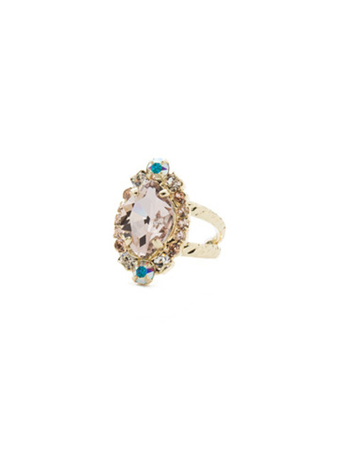 Sorrelli SILKY CLOUDS - Eustoma Crystal Cocktail Ring ~ RDS44BGSCL