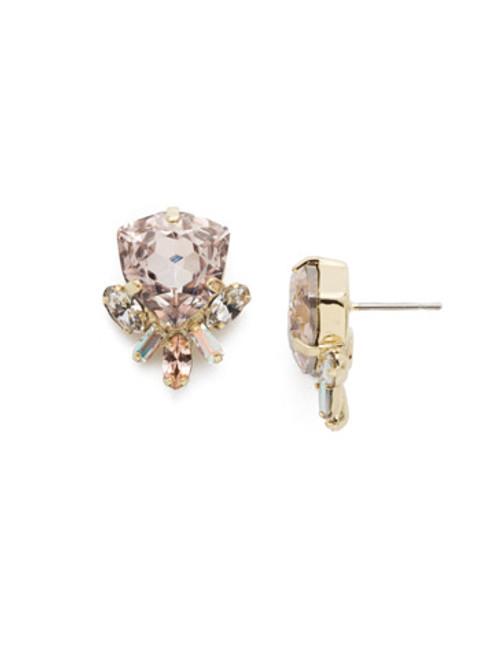 Sorrelli SILKY CLOUDS- Skylar Stud Crystal Earrings~ EEE1BGSCL