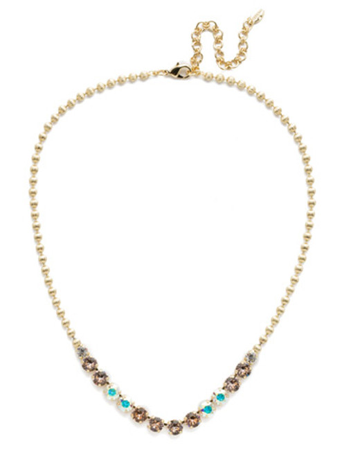 Sorrelli SILKY CLOUDS - Nora Line Necklace~ NEE31BGSCL