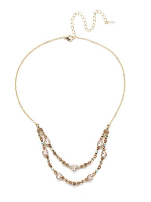 Sorrelli SILKY CLOUDS - Sedge Mini Bib Necklace~ NEE3BGSCL