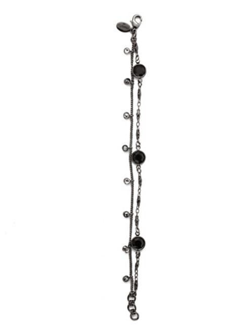 Sorrelli MIDNIGHT MOON- Dewdrop Tennis Bracelet~ BEK36GMMMO