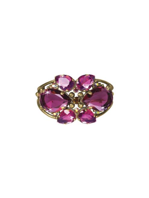 Sorrelli Pink Orchid- Secret Garden Cuff Bracelet~ BCP1AGPOR