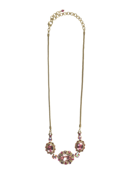 Sorrelli Pink Orchid- Grand Canna Necklace~ NCK11AGPOR