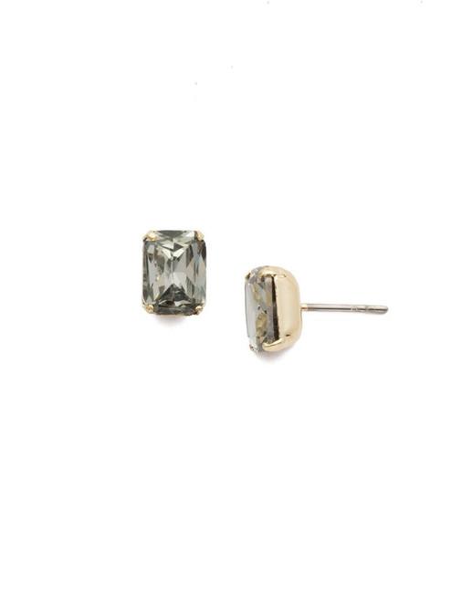 Sorrelli Black Diamond - Mini Emerald Cut Stud Earrings~ EBY42BGBD