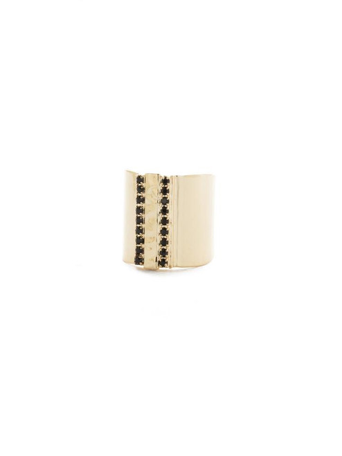 Sorrelli Jet - All Lined Up Band Ring~ RDW22BGJET