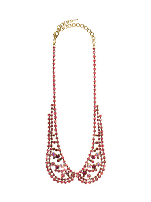 Sorrelli Pink Orchid- Haute Under the Collar Necklace~ NCN10AGPOR
