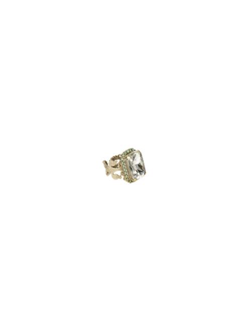 Sorrelli ATLANTIS- Petite Emerald-Cut Cocktail Ring~ RCF9ASAT