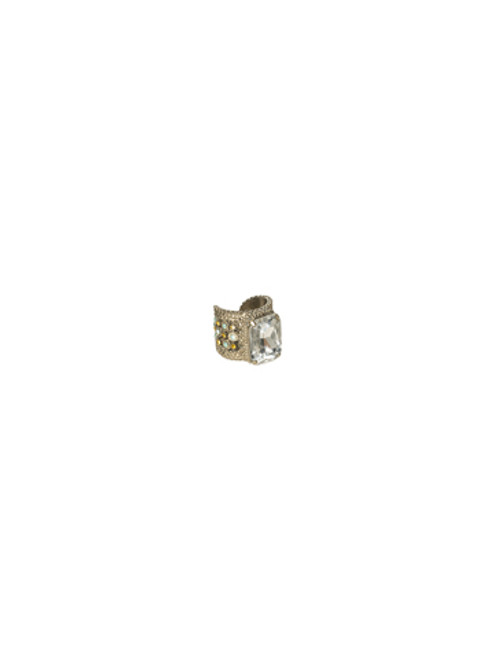 Sorrelli ATLANTIS- Emerald Cut Band Ring with Crystal Accents~ RBX5ASAT