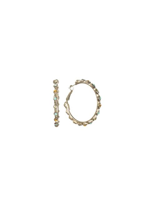 Sorrelli ATLANTIS- Crystallized Hoop Earrings~ ECM38ASAT